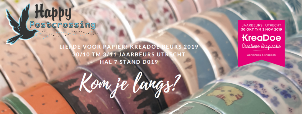 Happy Postcrossing is aanwezig op KreaDoe 2019!